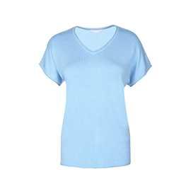 T-shirt med v-ringning - Blå L