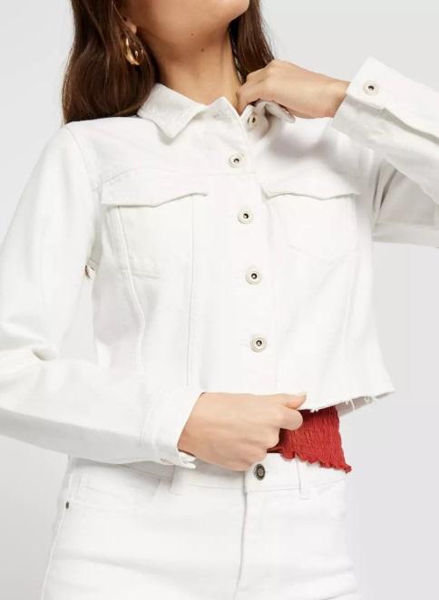 jeansjacka vit