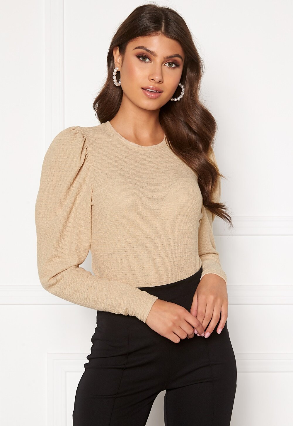 bubbleroom-zilla-structured-top-beige_3