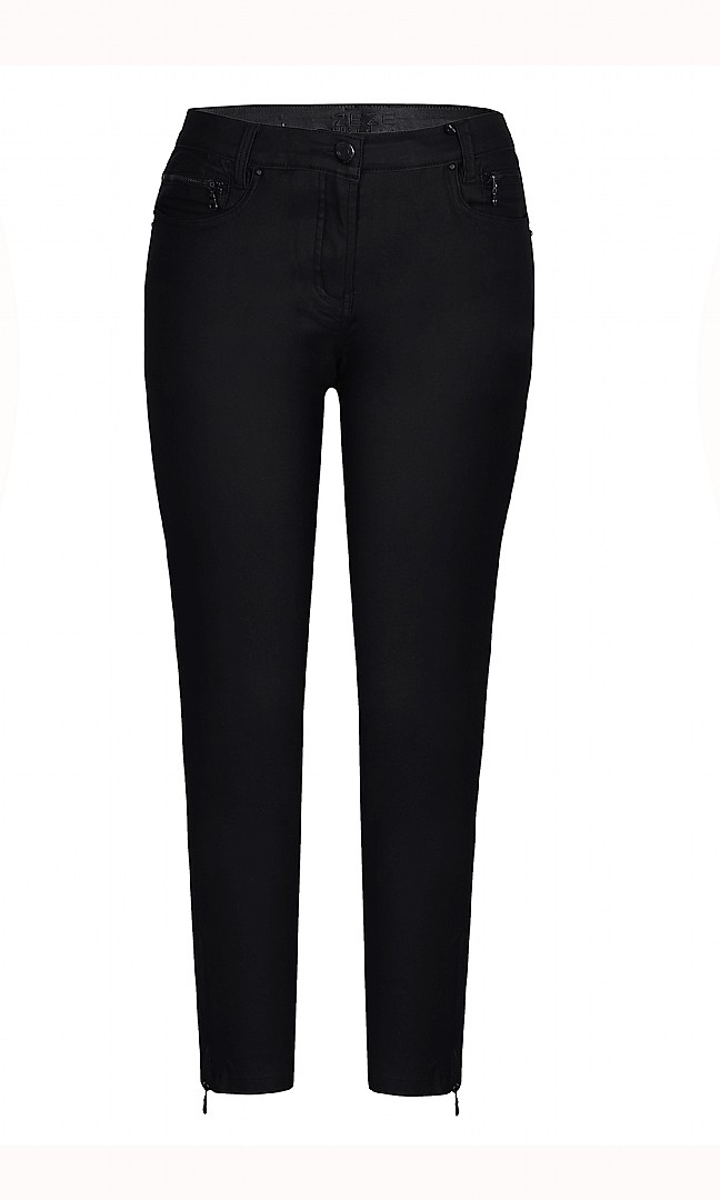 svarta coated byxor