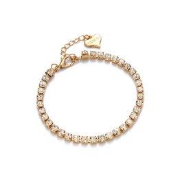 Strass Armband - Guld