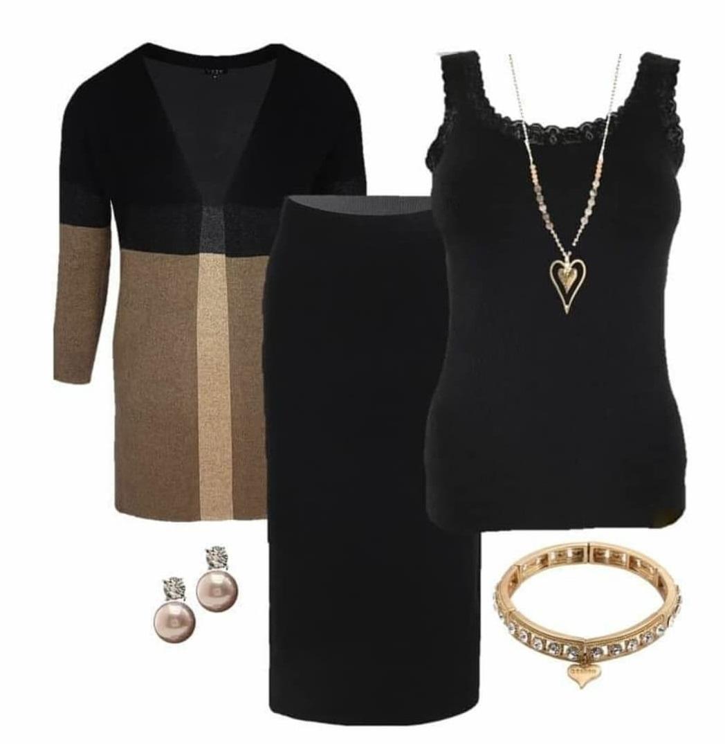 kjol kofta outfit