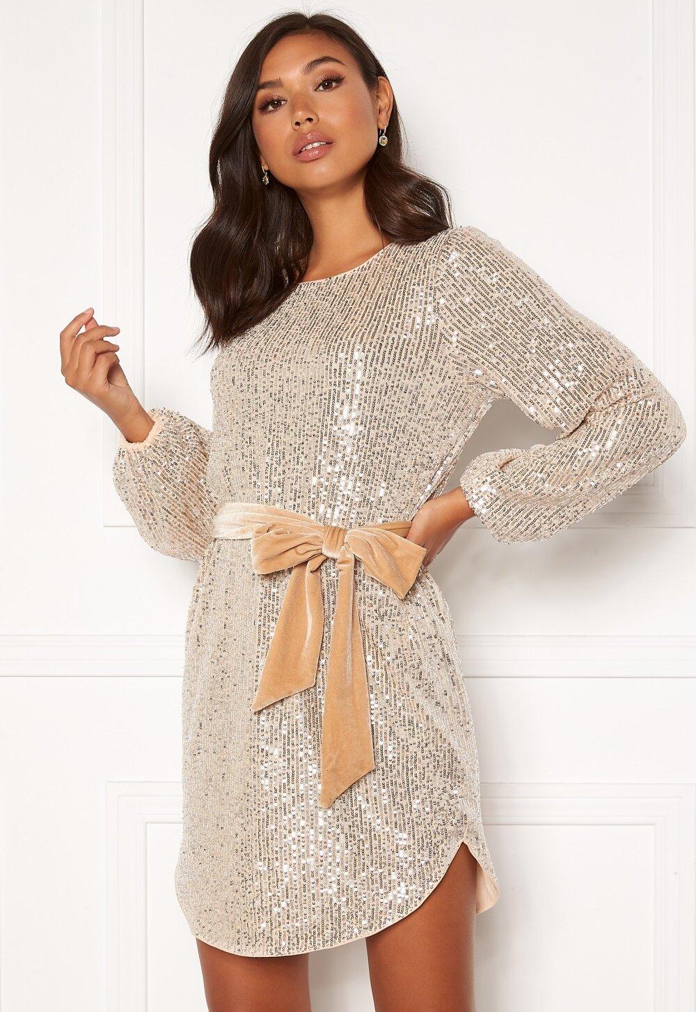 bubbleroom-sanja-sparkling-dress-champagne-silver