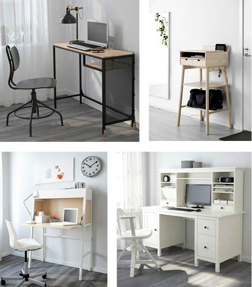 Det finns många bra och kreativa lösningar för kontor och arbetsplats. Bilder från IKEA
