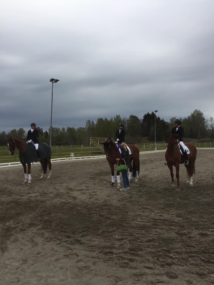 Vinnare i klassen Helena Larsson, andra placerad Daniella Hansson och tredje placerad Anna Campner. Grattis till er alla!