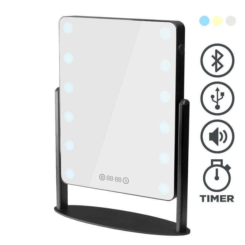 tischspiegel mit beleuchtung 3 farben usb anschluss. Black Bedroom Furniture Sets. Home Design Ideas
