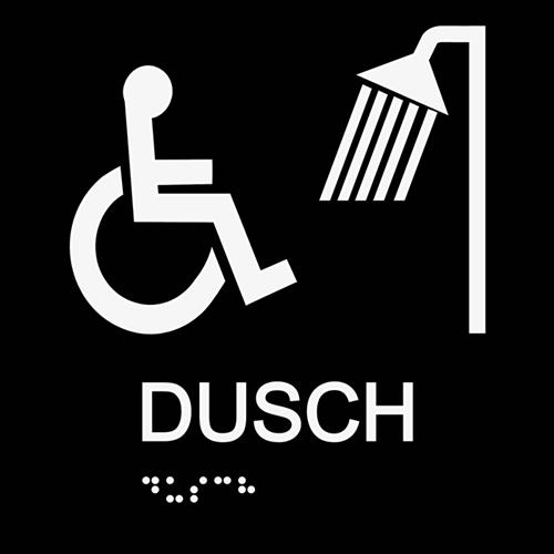 Dusch rullstol