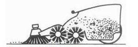 Traditionella borstsystem för sopmaskiner - Dubbelt valssystem