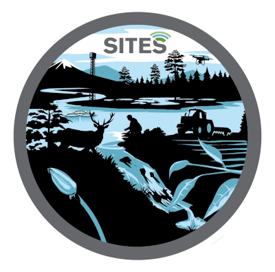 Schematic illustration of SITES ecosystem types and areas of particularly high data access.
