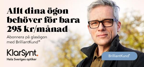BrilliantKund abonnera på glasögon för bara 295 kr/månad