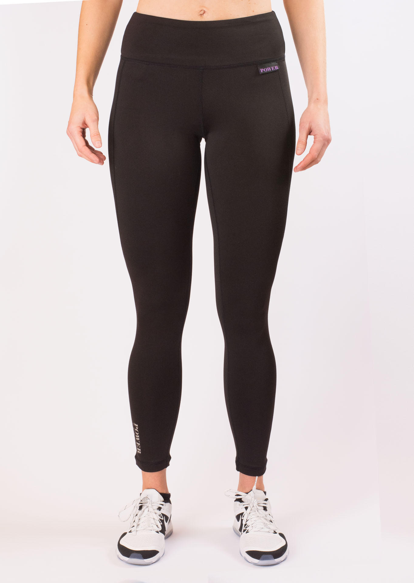PoS187703-9999_Blsck_POWER of Sweden Compression Leggings framsida
