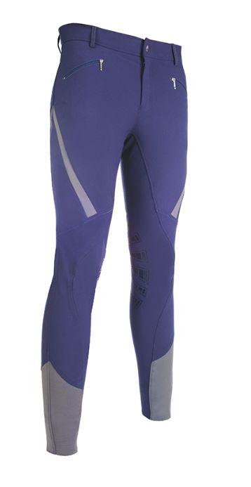 Ridbyxa Herr - Highland - knäskoning silikon marinblå