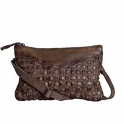 Unmade braid rivets bag crossbody - Unmade braid rivets bag brun