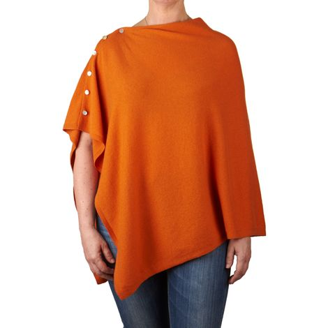 cashmere pncho orange