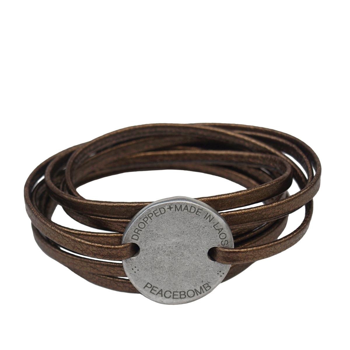 Article22. Läderarmband bronze. Återvunnet.