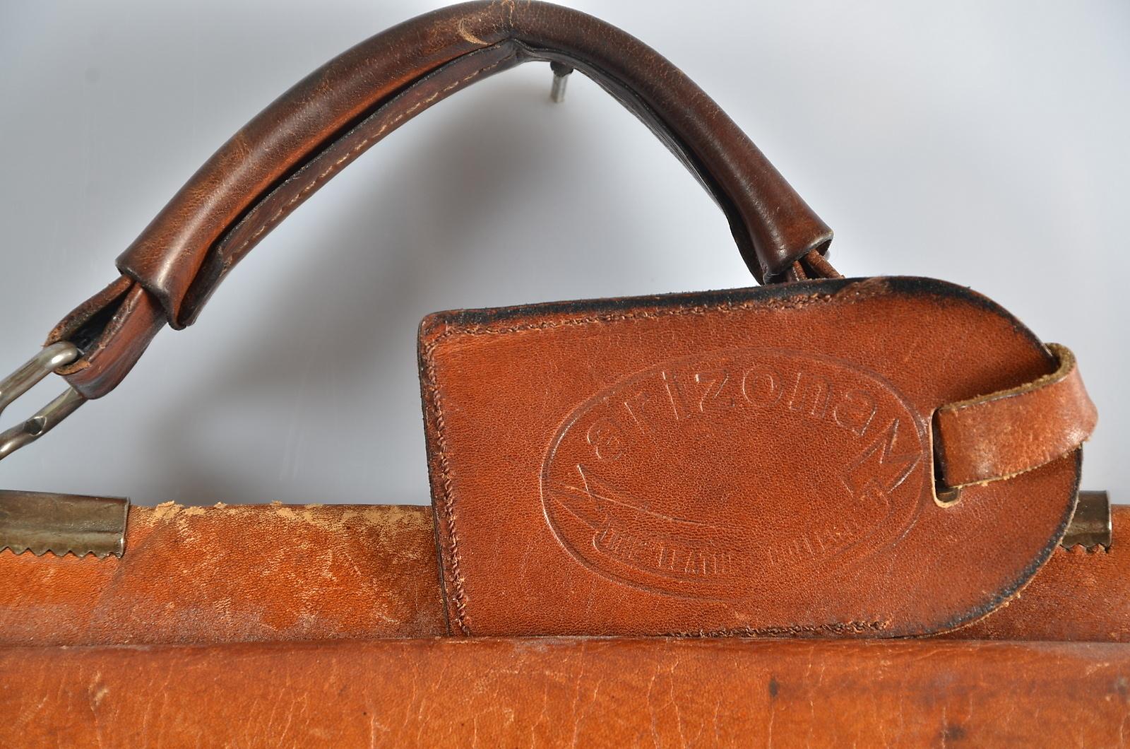 Vintageportfölj läder från Three Bags