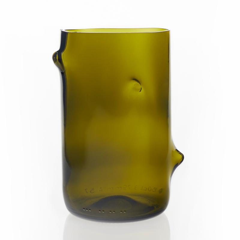 Jesper Jensen v återvunnet glas, stor oliv