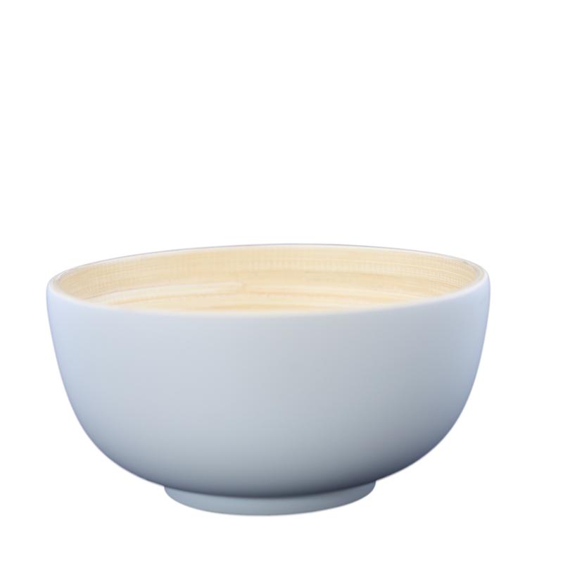 Bibol. Skål bambu liten grå