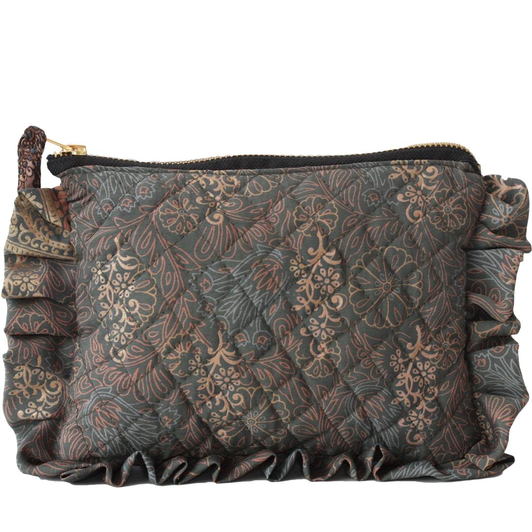 Frill purse grön
