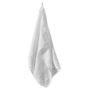Lin Living handduk vit ekologiskt linne.