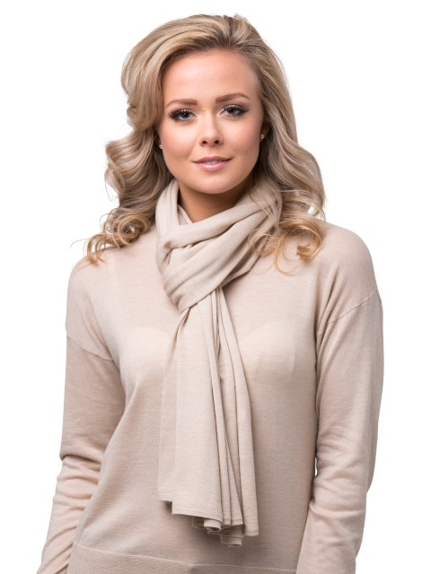 Summer scarf light beige