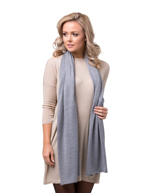 Summer scarf light grey