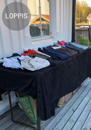 Hemmaloppis efter utrensning av garderob