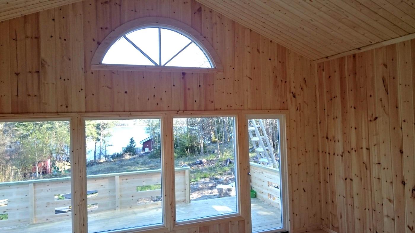 Fritidshus 60 kvm + loft interiört allrum