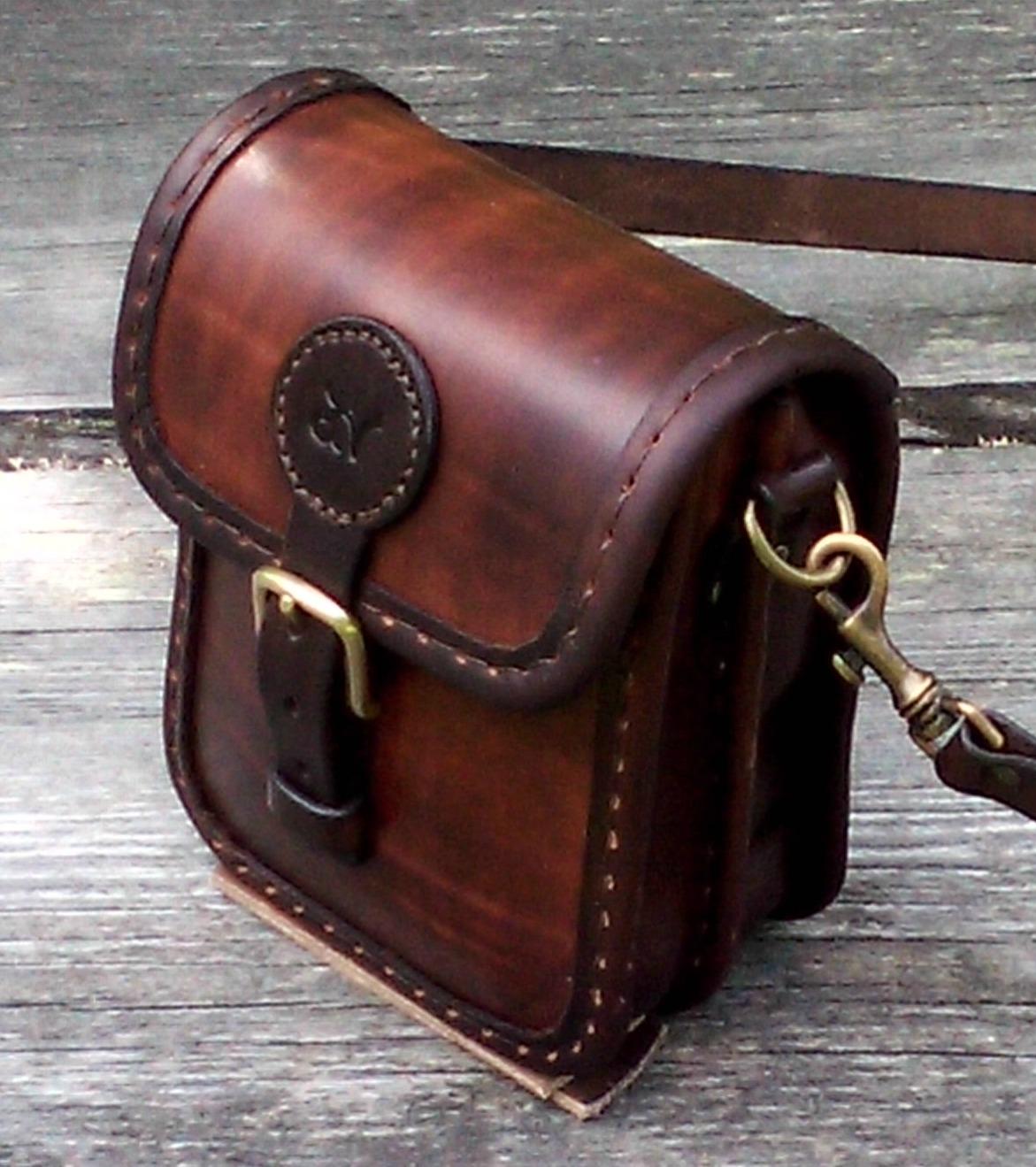 Handväska Storl.2 rödbrun-3