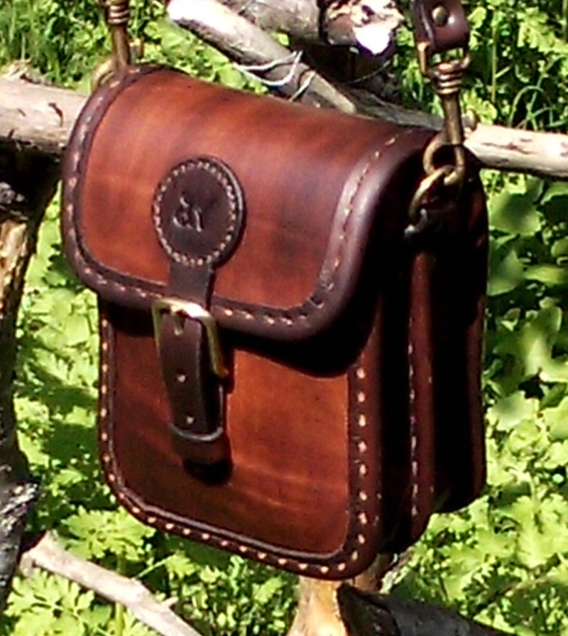 Handväska Storl.2 rödbrun