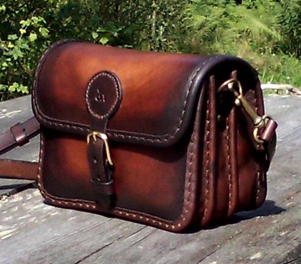 Handväska Storl.4 rödbrun:gulbrun