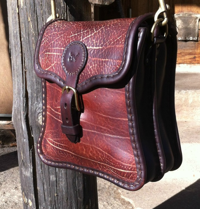 Handväska Storl.6 rödbrun