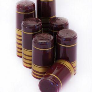 Krymphättor 30 pack - Vinröd / guld