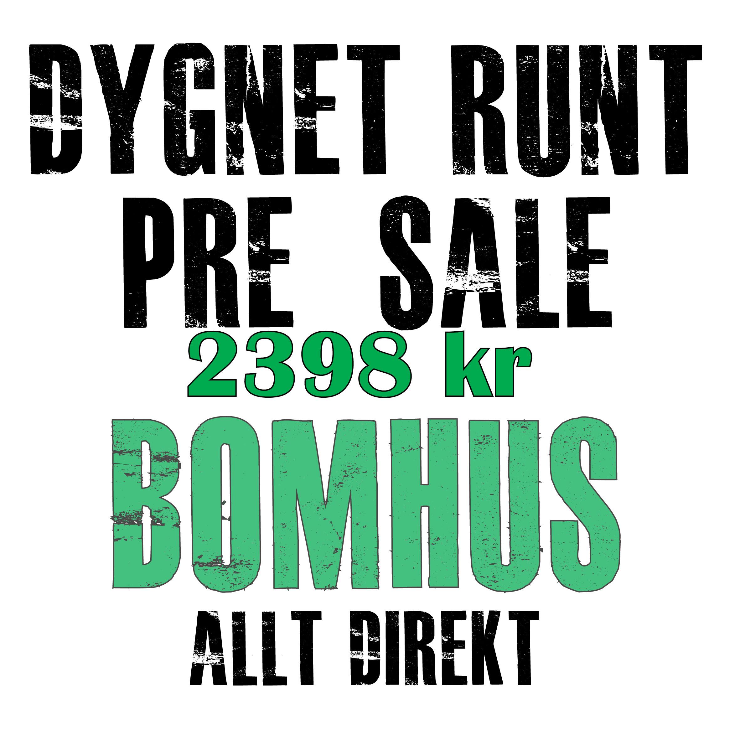 Pre-sale Bomhus 2018 allt på en gång