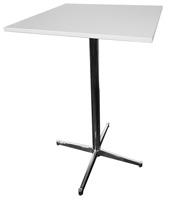 Cafébord fyrkant med metallfot VIT