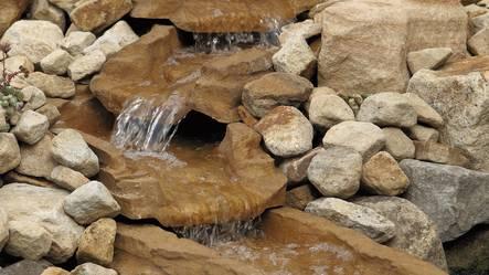 Bäcksektioner oase , bygga bäck till dammen, bäcksektioner frå oase