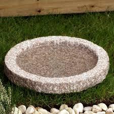 Fågelbad natursten grå granit