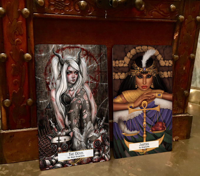 78 Tarot Mythical The Devil & Justice