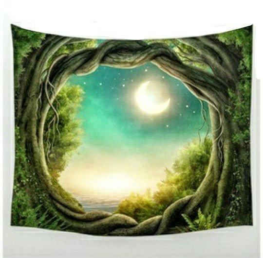Moon in Glade Walltapestry