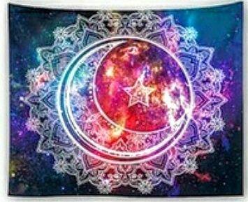 Sun Moon Star Mandala Walltapestry