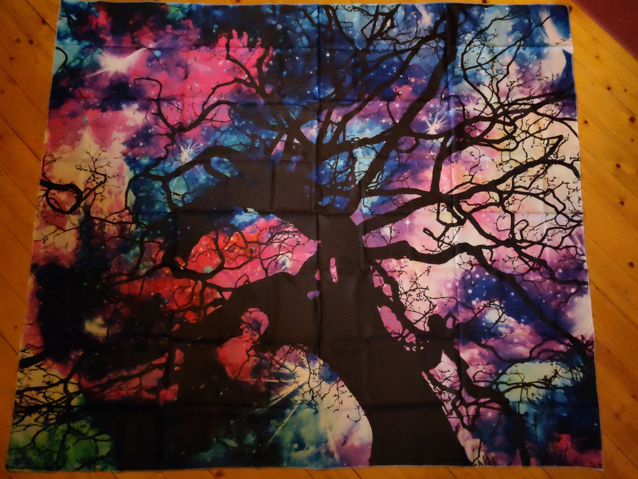 Tree against Galaxies Walltapestry