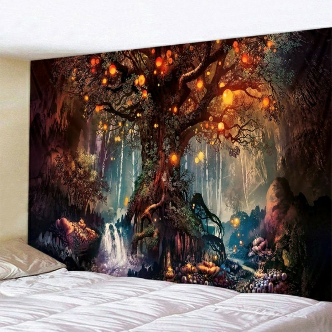 (SOLD OUT) Orange Tree with Light Walltapestry