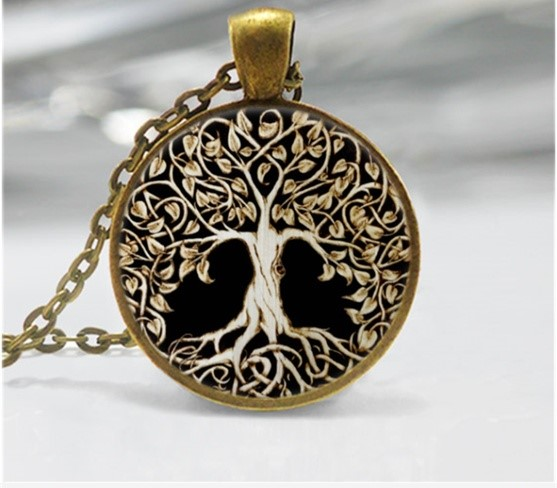 Cabochon brown tree of life1
