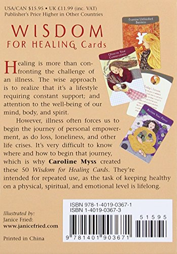 Wisdom for Healing Cards back