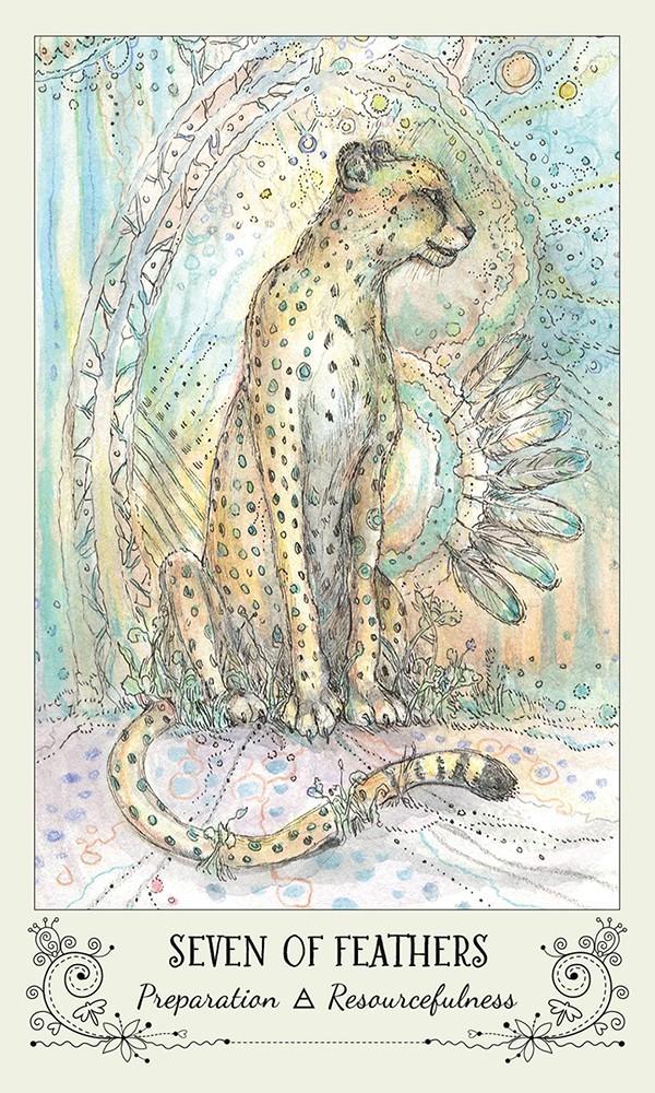 Spiritsong Tarot seven of feathers