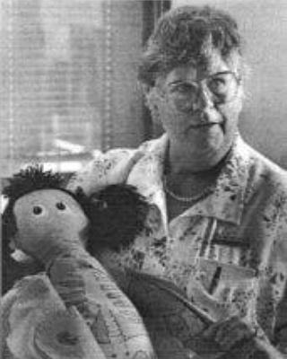 Inga Pennborn, the creator of Lotta the Doctor Doll