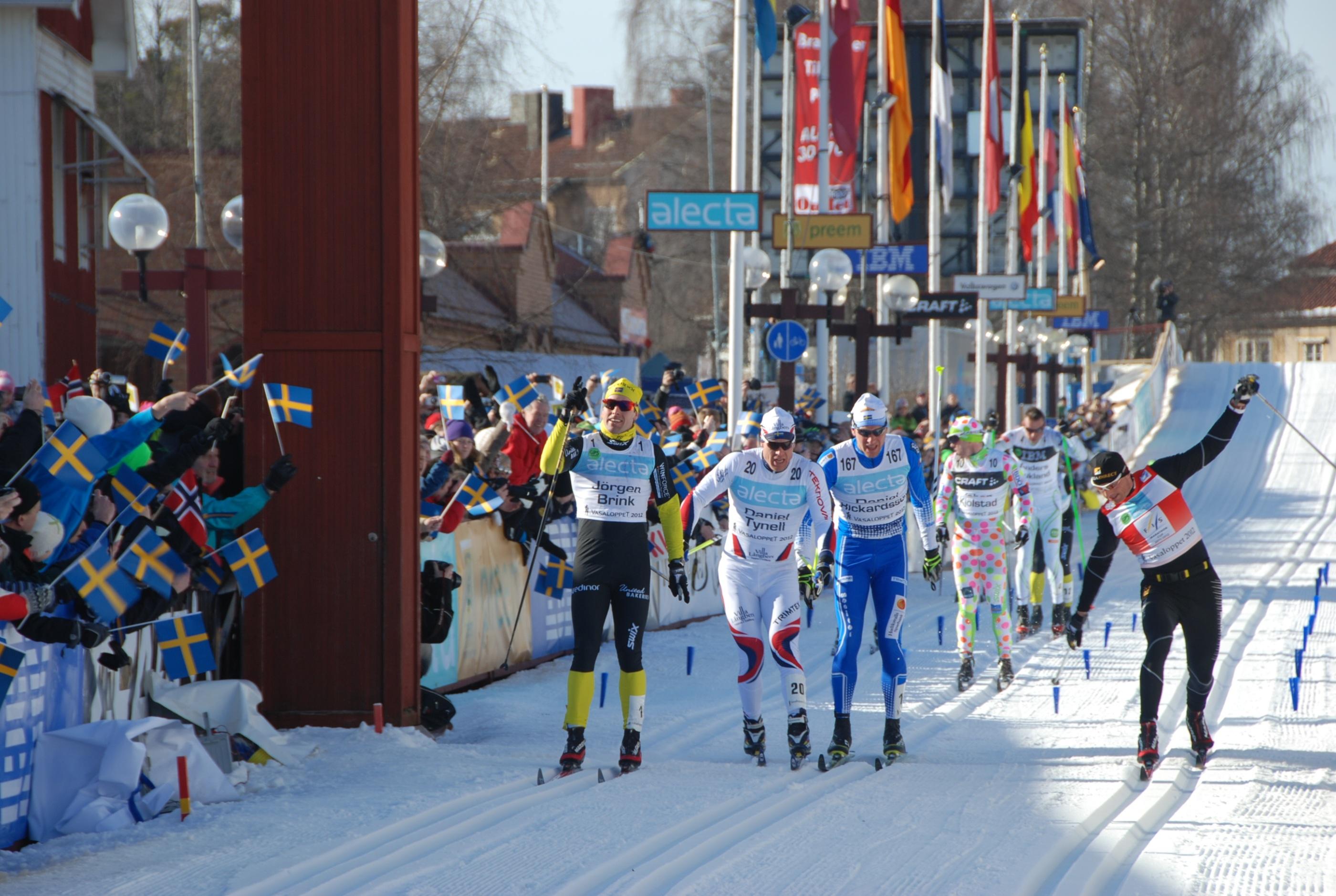 Vasaloppet 2012 målgång