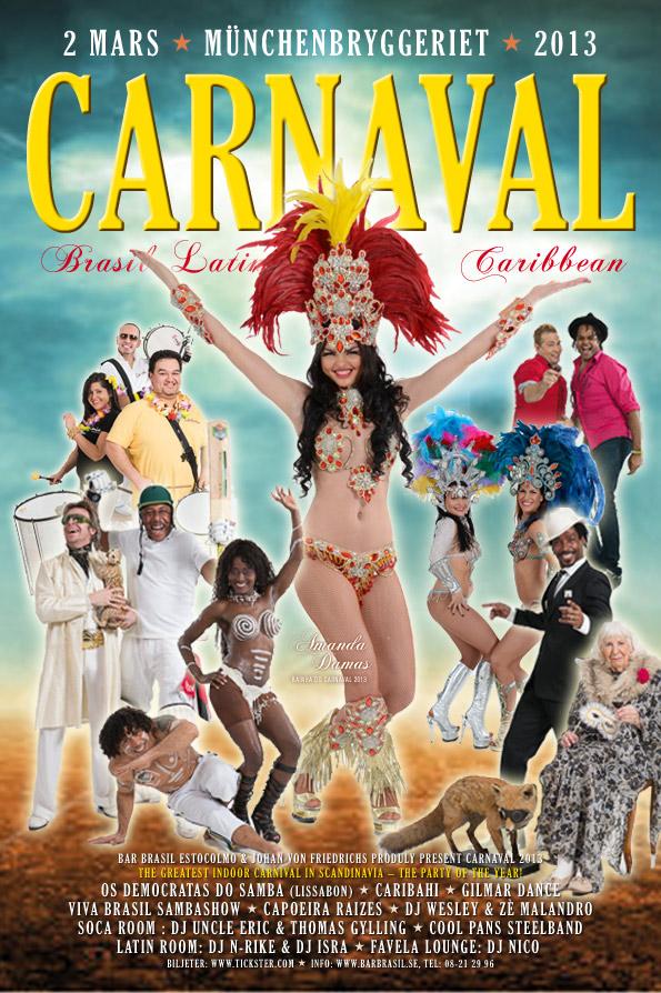 Officiella affischen för Bar Brasils Carnaval 2013