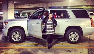 Vår hyrbil, en Chevrolet Tahoe