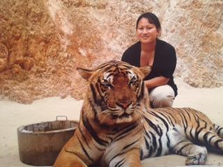 Tigern är stor och respektingivande